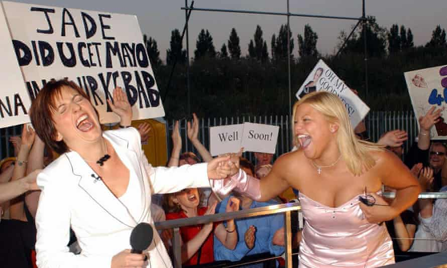 Is this the real life? ... Davina McCall and Jade Goody on Big Brother in 2002.