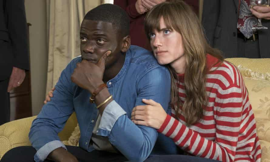 Daniel Kaluuya and Allison Williams in Get Out. Jackson said: 'Daniel grew up in a country where they've been interracial dating for a hundred years.'