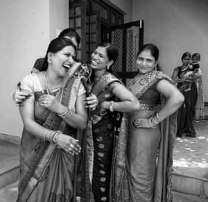 Women enjoying their time together at a Hindu festival, Hartalika Teej