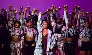 Pink closes out the 2019 Brit awards.