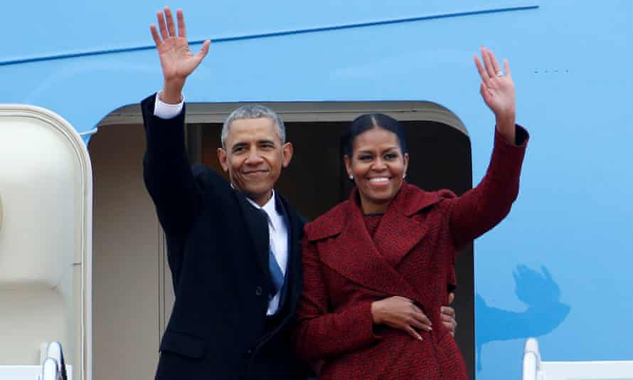 Barack Obama and his wife, Michelle.