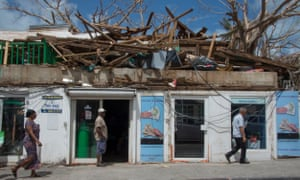 Hurricane damage in St Martin