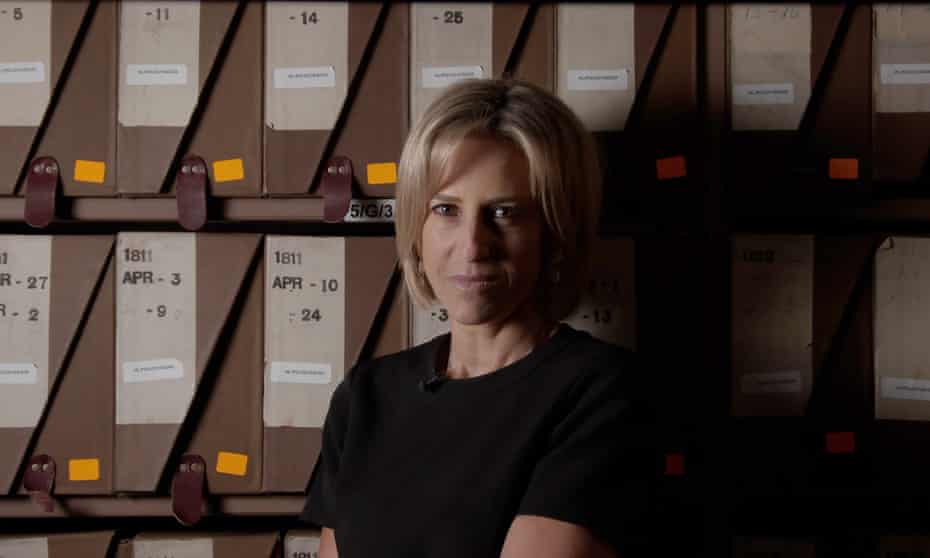 Emily Maitlis in the parliamentary archive.