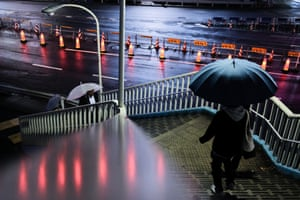 Tokyo – a rainy night in the business district