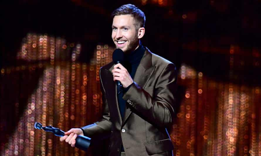 Brit Awards 2019 - Show - LondonCalvin Harris accepts the award for British producer of the year.