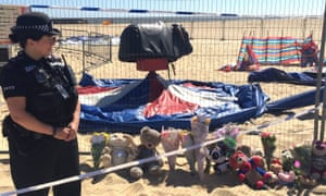 A growing number of teddy bears and flowers have been left as tributes at Gorleston beach.