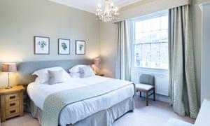 A bedroom at the Swan at Hay Hotel.