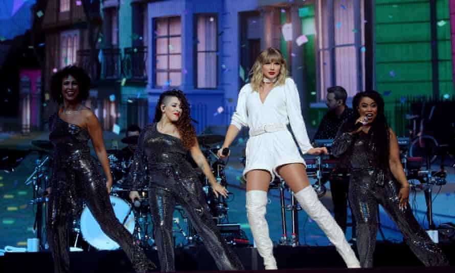 Taylor Swift performs at London's O2 Arena.