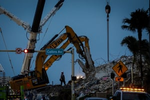 Florida, US: The delicate mission to search for survivors of the Miami building collapse was hindered by strong winds and heavy rain.
