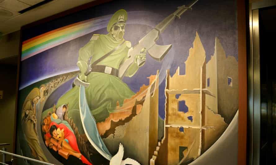 Mural by Leo Tanguma at Denver International Airport