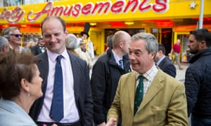 Douglas Carswell, left, with Nigel Farage, a purveyor of 'pound-shop populism', in 2014.