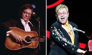 Johnny Cash and Elton John.