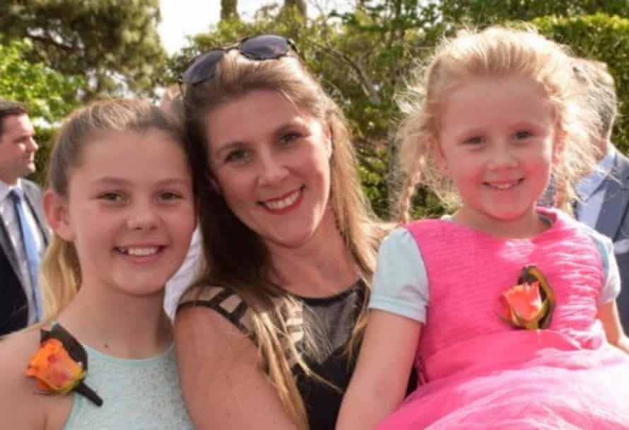 Rebecca Wilkie with daughters Caytlyn, 14, and Emily, 8.