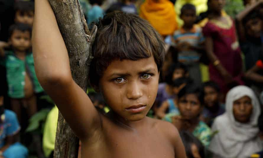 Rohingya Muslim refugees newly arrived in Bangladesh from Myanmar in September.