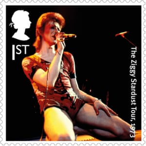 David Bowie … Wham bam, thank you stamp.