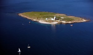 Aerial view of Coquet Island, Northumberland.