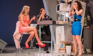 A fine ensemble … (left to right) Dani Heron as Lyndsey, Pauline Knowles as Hilary, and Molly Vevers as Tilly in Jumpy.