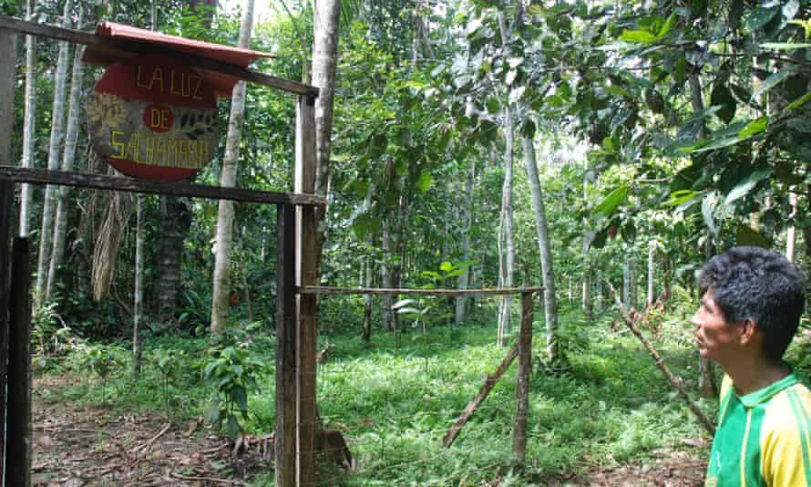 The entrance to the Sachamama Botanical Garden, run by Francisco Montes Shuna.