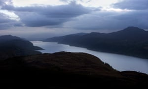 Loch Ness in the Great Glen, as seen from the hills above Foyers.