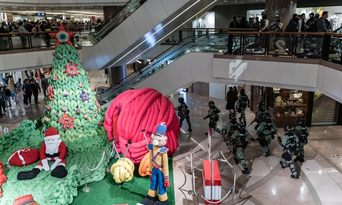 Image result for Hong Kong Police condemn violence in Malls on Christmas