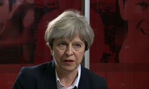 Theresa May on Newsnight on Friday. On Saturday she pledged to act immediately.