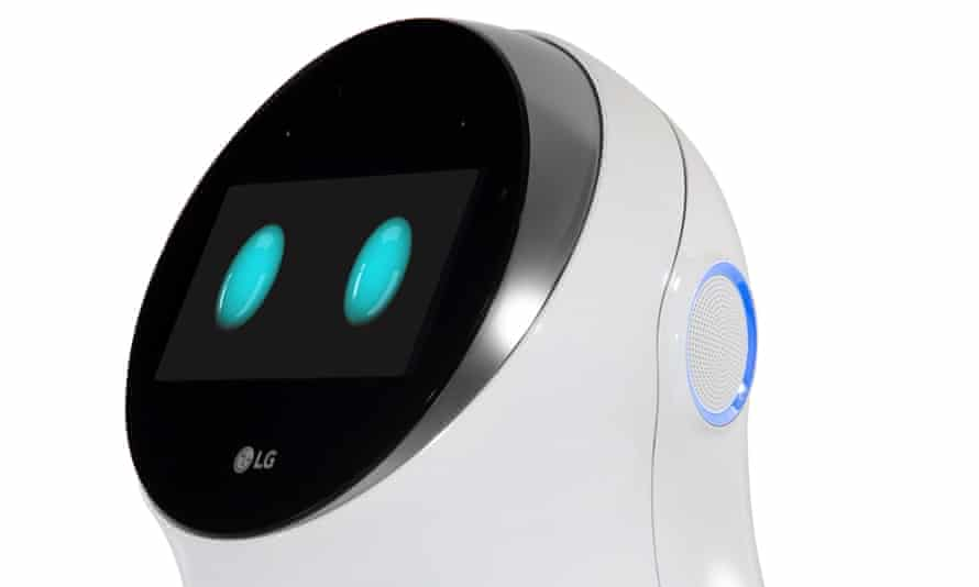 The Hub Robot, a little white machine that has two glowing blue 'eyes' on the front, will go on sale in 2017.