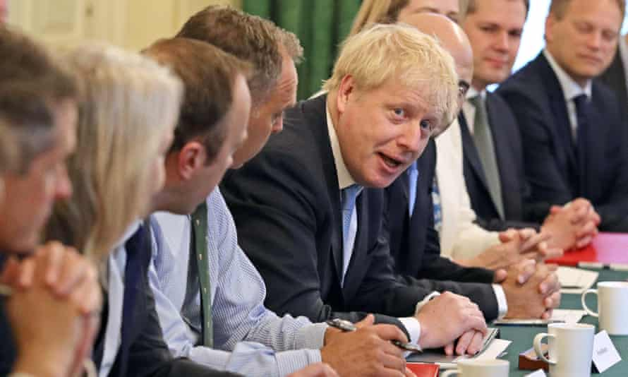 Boris Johnson with his new cabinet