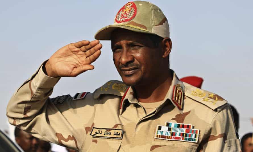Mohamed Hamdan Dagalo, known as Hemedti, the RSF leader.