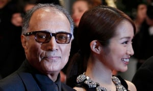 Abbas Kiarostami with actor Rin Takanashi at Cannes in 2012