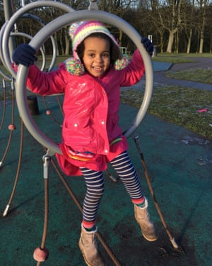 Esther Dusabe-Richards' five year old daughter at the park.