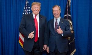 Donald Trump with Nigel Farage