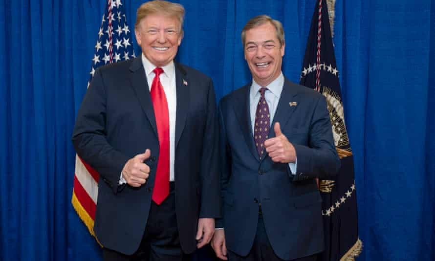 Donald Trump with Nigel Farage