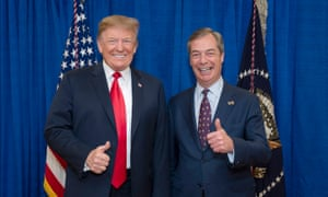President Donald Trump with Nigel Farage.