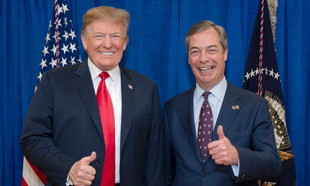 Donald Trump's 'go back' comments were 'genius', says Nigel Farage | Donald Trump | The Guardian