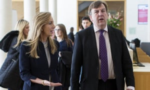 Rona Fairhead of the BBC Trust and culture secretary John Whittingdale at Oxford Media Convention on Wednesday.
