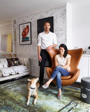 We are family: Brendan Young and Vanessa Battaglia. They have a young son, Antoni, and a pet dog.