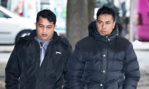 Harun Rashid and Mohammed Kuddus arrive at Manchester crown court, where they were found guilty of manslaughter.
