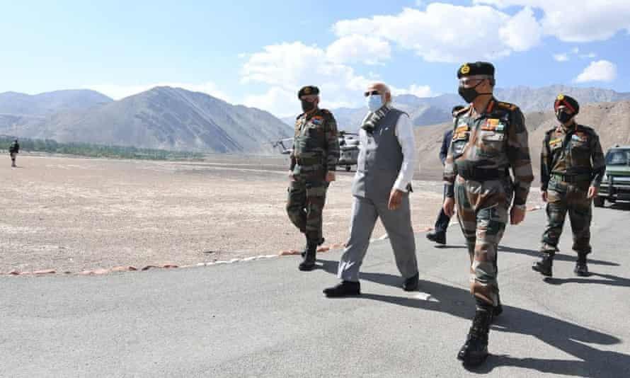 Narendra Modi visits Ladakh.