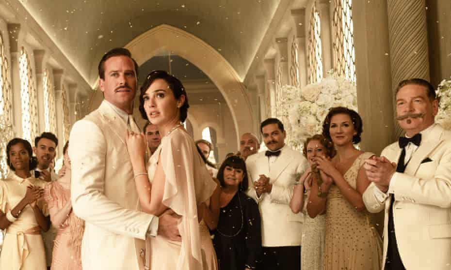 Rough passage ... Gal Gadot and Armie Hammer in Death on the Nile.