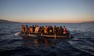 Refugees off Lesbos