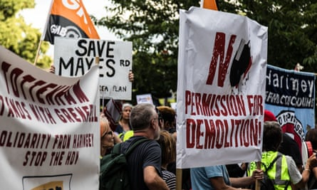 Haringey council development protest on 3 July 2017