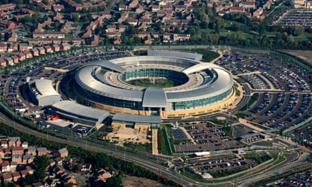 The 'Doughnut': GCHQ in Cheltenham, Gloucestershire, south-west England.