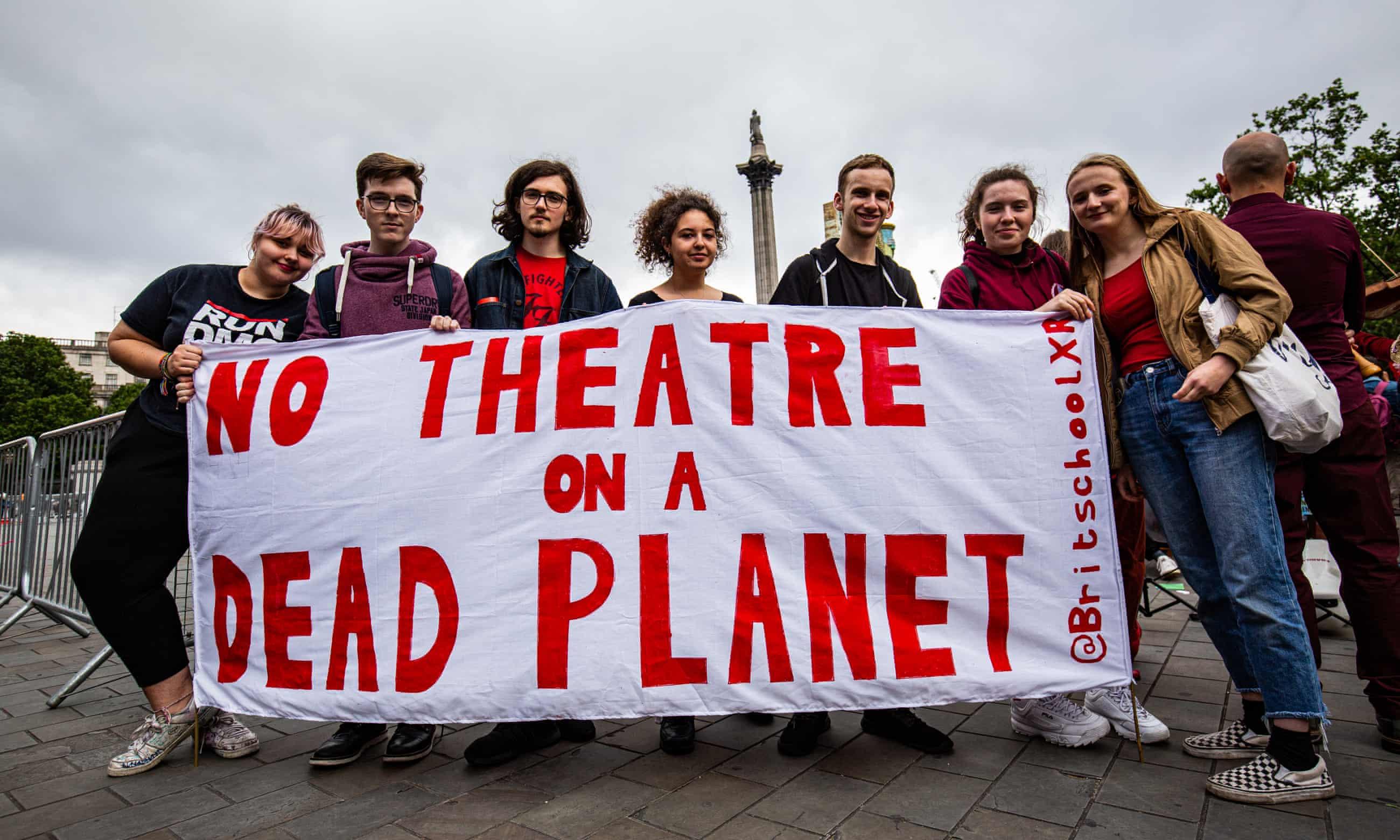 Extinction Rebellion take on BP in Trafalgar Square – in pictures