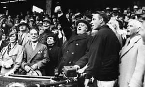 President Roosevelt at the baseball World Series in 1933.