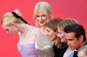 The Beguiled Premiere - 70th Cannes Film Festivalepa05987251 Australian actrees Nicole Kidman (C) arrives for the premiere of 'The Beguiled' during the 70th annual Cannes Film Festival, in Cannes, France, 24 May 2017.