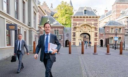 Mark Rutte in the Hague last week
