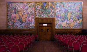 The Frank Brangwyn panels in Brangwyn Hall.