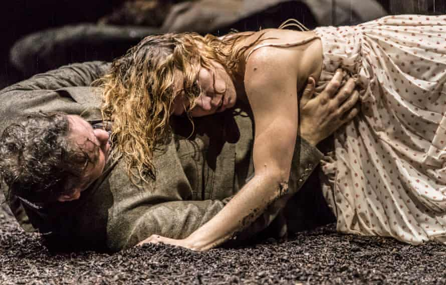 'Utterly contemporary': Brendan Cowell and Billie Piper in Yerma at the Young Vic.