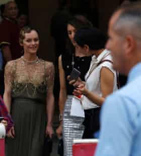 Chanel muse Vanessa Paradis arrives.