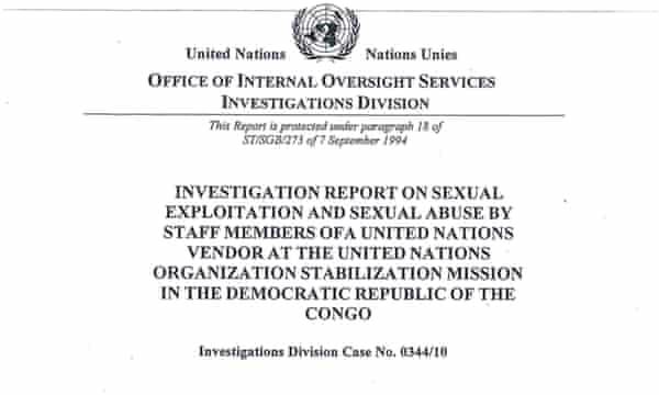 UN report cover